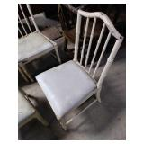 Primitive Country wooden white chairs with soft