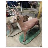 Outside deer cement deer ornaments
