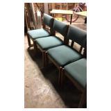 4 cushion chairs