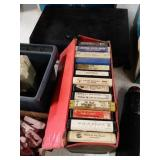 Eight-track cassette tapes