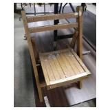 Kids wooden fold up chairs
