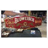 Plastic Budweiser sign