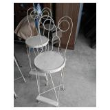 set of six High back ice cream stools hard to find