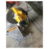 Dewalt chop saw pluged in and worked like it