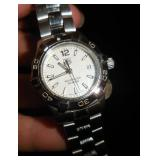 TAG HEUER AQURACER STAINLESS LADIES WATCH