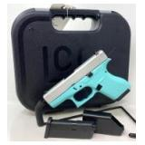 Glock Model 42 Robin Egg Blue .380 Semi-Auto Pistol