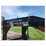 2016 CUSTOM TRAILERS GN FLATBED TRAILER