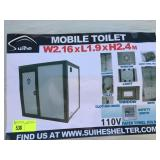 UNUSED MOBILE TOILET WITH SHOWER