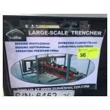 UNUSED LARGE SCALE TRENCHER FOR SKIDSTEER