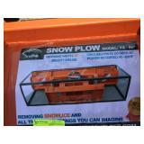 """UNUSED 86"""" SNOW PLOW FOR SKIDSTEER"""