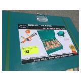 UNUSED METAL BOX W/ 24PC RATCHET STRAPS