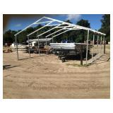 24X24X8 GALVANIZED 13GA STEEL BUILDING FRAME
