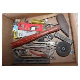 Hammers, Screw tips, pliers, Crescent Wrenches