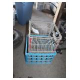 Carnation Milk Crate and Blue Milk Crate