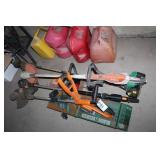 Weed eaters (3) and trimmer