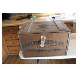 Anheuser-Busch Inc. wooden Box