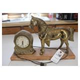 Oxford Self Starting Clock w/horse
