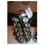 Spice Rack with Spices & Weber Spices and Sprays