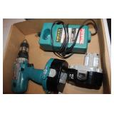 Makita Power Drill with Two Batteries & Charger