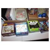 Children Puzzles, balls, crayons, Binder w/paper,