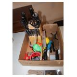 Kitchen Knives w/stand and Utilities