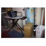 Hamper, Ironing Board, Iron, Buckets,