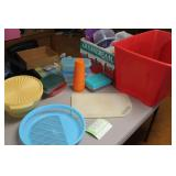 Assorted Tupperware and storage containers