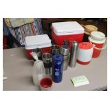Coolers, Thermoses and travel mugs