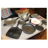 Frying and Baking Pans and assorted kitchen items