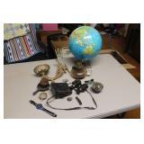 Globe, Binoculars, sconce, etc