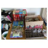 Puzzles, candle holders, knick knacks
