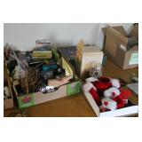 Assorted items and Christmas Decor