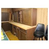 set of cabinets