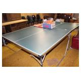 Ping Pong table and supplies