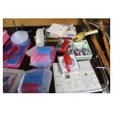 Poster frames, plastic stool, Miscellaneous