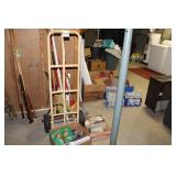 2 Wheel Cart, Plumbing supplies and hand tools