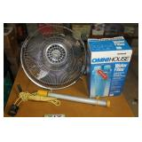 Fans, water filter