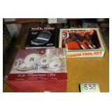 Waffle maker, dish set and kitchen utensils