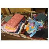 Assorted fabric, clothes pins
