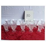 Fostoria glass goblet set