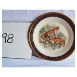 Lenox woodland wildlife fox plate