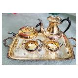 Silver plated Tea Set w/ Tray