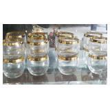 8 Gold trim Glasses