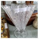 Lead Crystal Fan Vase