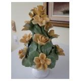 Vintage Yellow China Flowers