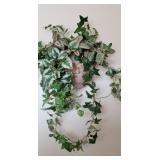 ceramic wall scone w/ fake Ivy