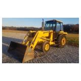 Ford F445D Loader tractor with cab +