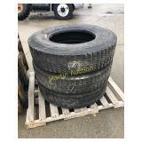 Pallet w/ 11 R 22.5 Tires (3)