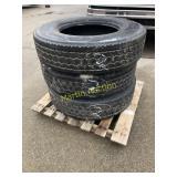 Pallet w/ 275/80R 22.5 Tires (3)