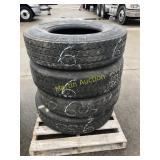 Pallet w/ 11R 22.5 Tires (5)
